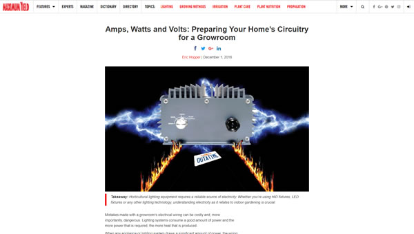 Amps, Watts and Volts: Preparing Your Home's Circuitry for a Growroom